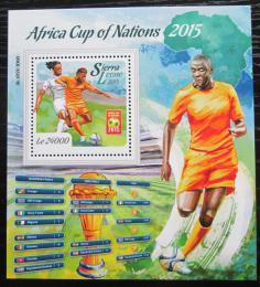 Poštovní známka Sierra Leone 2015 Africký pohár ve fotbale Mi# Block 886 Kat 11€