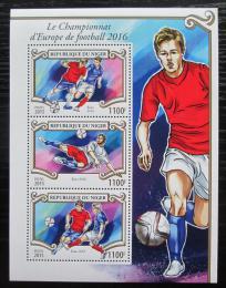 Poštovní známky Niger 2015 ME ve fotbale Mi# 3586-88 Kat 13€