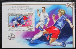Poštovní známka Niger 2015 ME ve fotbale Mi# Block 464 Kat 12€