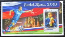Poštovní známka Svatý Tomáš 2016 MS ve fotbale Mi# Block 1231 Kat 10€