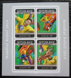 Poštovní známky Guinea 2014 MS ve fotbale Mi# 10527-30 Kat 20€