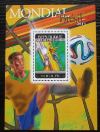 Poštovní známka Guinea 2014 MS ve fotbale Mi# Block 2401 Kat 16€