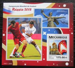 Poštovní známka Mosambik 2015 MS ve fotbale Mi# Block 1096 Kat 10€