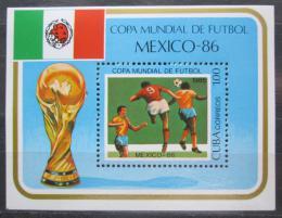 Poštovní známka Kuba 1985 MS ve fotbale Mi# Block 88