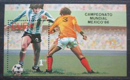 Poštovní známka Kuba 1986 MS ve fotbale Mi# Block 93