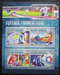Poštovní známky Guinea-Bissau 2016 ME ve fotbale Mi# 8776-79 Bogen Kat 12.50€