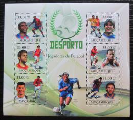 Poštovní známky Mosambik 2010 Slavní fotbalisti Mi# 3675-80 Kat 10€