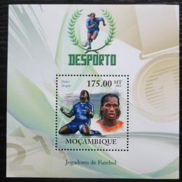 Poštovní známka Mosambik 2010 Didier Drogba, fotbalista Mi# Block 319 Kat 10€