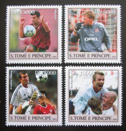 Poštovní známky Svatý Tomáš 2004 ME ve fotbale, fotbalisti Mi# 2569-72 Kat 12€