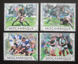 Poštovní známky Mosambik 2013 Rugby Mi# 6354-57 Kat 13€