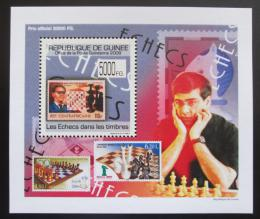 Poštovní známka Guinea 2009 Šachy DELUXE Mi# 7087 Block