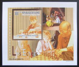Poštovní známka Guinea 2010 Dìti a šachy DELUXE Mi# 7461 Block