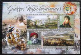 Poštovní známky Pobøeží Slonoviny 2016 Napoleon, Napoleonské války Mi# N/N