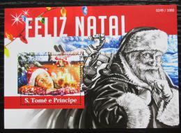 Poštovní známka Svatý Tomáš 2015 Vánoce Mi# Block 1131 Kat 10€