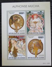 Poštovní známky Guinea 2015 Umìní, Alfons Mucha Mi# 11308-11 Kat 16€