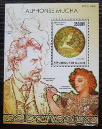 Poštovní známka Guinea 2015 Umìní, Alfons Mucha Mi# Block 2558 Kat 14€