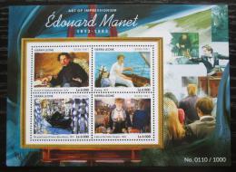 Poštovní známky Sierra Leone 2015 Umìní, Édouard Manet Mi# 6416-19 Kat 11€