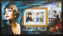 Poštovní známka Sierra Leone 2015 Umìní, Édouard Manet Mi# Block 816 Kat 11€