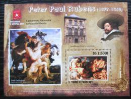 Poštovní známka Svatý Tomáš 2010 Umìní, Peter Paul Rubens Mi# Block 746 Kat 11€