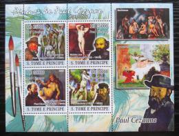 Poštovní známky Svatý Tomáš 2008 Umìní, Paul Cézanne Mi# 3727-30 Kat 12€