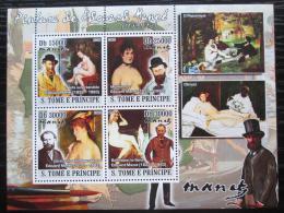 Poštovní známky Svatý Tomáš 2008 Umìní, Edouard Manet Mi# 3715-18 Kat 12€