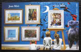 Poštovní známky Niger 2015 Umìní, Joan Miró Mi# 3732-36 Kat 24€