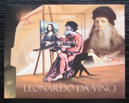 Poštovní známka Mosambik 2012 Umìní, Leonardo da Vinci Mi# Block 583 Kat 10€