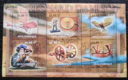 Poštovní známky Mosambik 2012 Vynálezy, Leonardo da Vinci Mi# 5456-61 Kat 14€