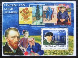 Poštovní známka Komory 2009 Umìní, Vincent van Gogh Mi# Block 462 Kat 15€