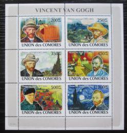 Poštovní známky Komory 2009 Umìní, Vincent van Gogh Mi# 2030-35 Kat 14€
