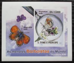 Poštovní známka Svatý Tomáš 2010 Motýli neperf. DELUXE Mi# 4557 B Block