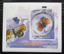 Poštovní známka Svatý Tomáš 2010 Motýli neperf. DELUXE Mi# 4558 B Block