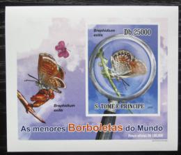 Poštovní známka Svatý Tomáš 2010 Motýli neperf. DELUXE Mi# 4561 B Block