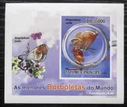 Poštovní známka Svatý Tomáš 2010 Motýli neperf. DELUXE Mi# 4562 B Block