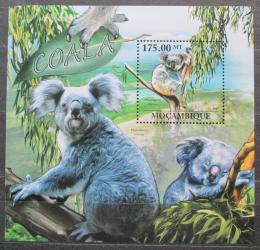 Poštovní známka Mosambik 2011 Koala medvídkovitý Mi# Block 569 Kat 10€