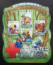 Poštovní známky Mosambik 2015 Boj proti malárii Mi# 7839-42 Kat 10€