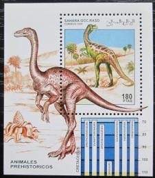 Poštovní známka Sahara 1995 Dinosauøi Mi# N/N