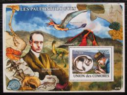Poštovní známka Komory 2009 Dinosauøi a paleontologové Mi# Block 452 Kat 15€