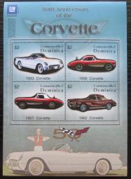 Poštovní známky Dominika 2003 Automobily Corvette Mi# 3462-65