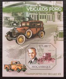Poštovní známka Mosambik 2011 Automobily Ford Mi# Block 463 Kat 10€