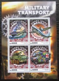 Poštovní známky Sierra Leone 2016 Vojenská bojová technika Mi# 7143-46 Kat 11€