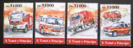 Poštovní známky Svatý Tomáš 2015 Hasièská auta Mi# 6288-91 Kat 12€