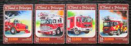 Poštovní známky Svatý Tomáš 2016 Hasièská auta Mi# 6661-64 Kat 12€