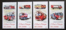 Poštovní známky Svatý Tomáš 2013 Hasièská auta Mi# 5191-94 Kat 10€