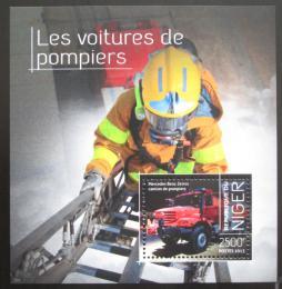 Poštovní známka Niger 2013 Hasièské auto a hasiè Mi# Block 269 Kat 10€