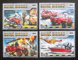 Poštovní známky Guinea-Bissau 2016 Hasièská technika Mi# 8619-22 Kat 12.50€