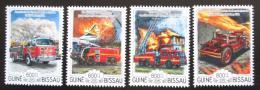 Poštovní známky Guinea-Bissau 2015 Hasièská auta Mi# 7687-90 Kat 13€