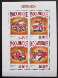 Poštovní známky Mosambik 2013 Hasièská auta Mi# 6892-95 Kat 11€