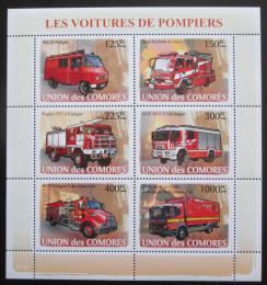 Poštovní známky Komory 2008 Hasièská auta Mi# 1819-24 Kat 11€