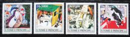 Poštovní známky Svatý Tomáš 2004 Umìní, Marc Chagall Mi# 2543-46 Kat 12€